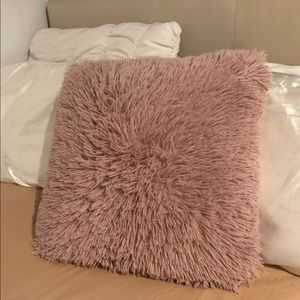 Other - Fluffy pink throw pillow!